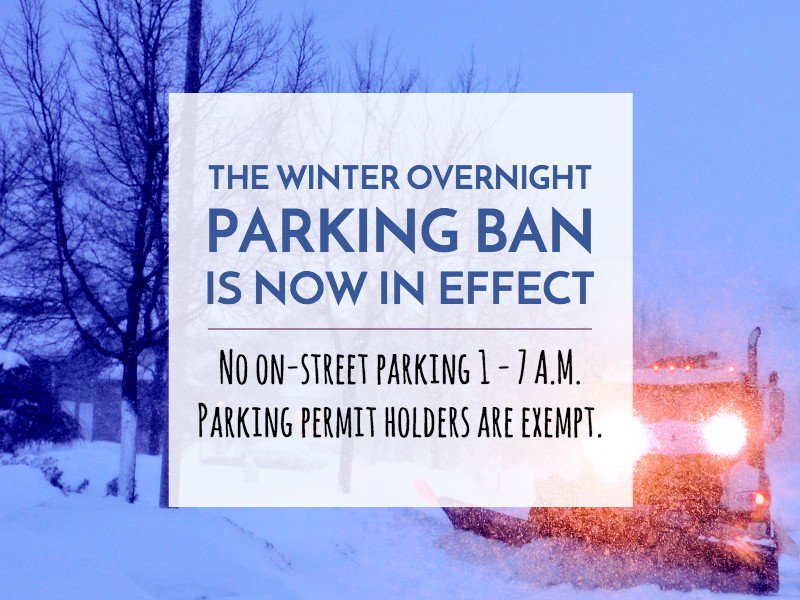 The overnight winter parking ban is in effect tonight. No parking on #OttCity streets between 1am-7am. https://t.co/Aj138YcXtq
