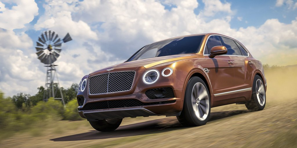 #Bentayga is featured in the new Forza Horizon game, now available on @Xbox and @Windows.