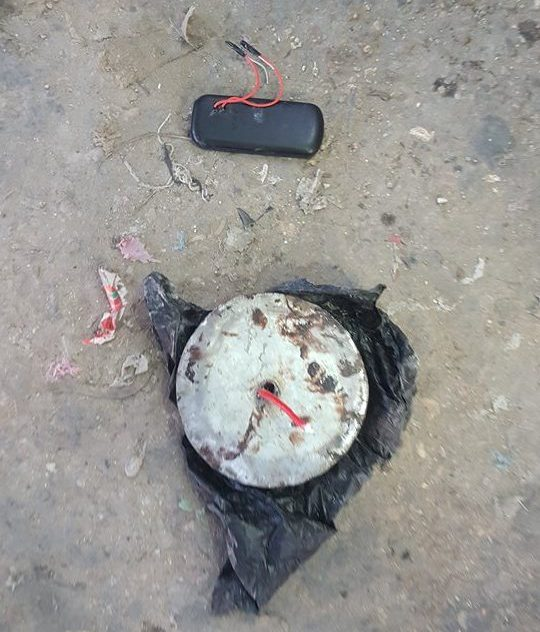 Terror alert as @HSNQ_NISA has carefully neutralized an IED hidden Via - Liberia road in Mogadishu.