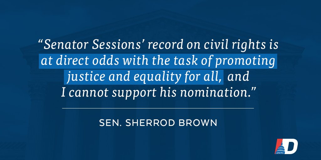 .@SherrodBrown pushes back against Donald Trump's radical choice for Attorney General →