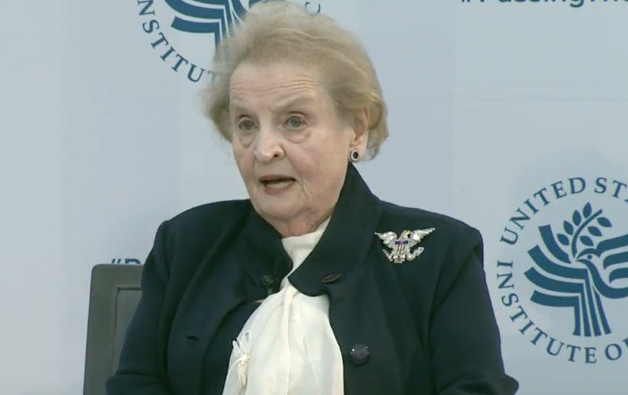 """We have to be concerned about what China and Russia are doing,"" says @madeleine"