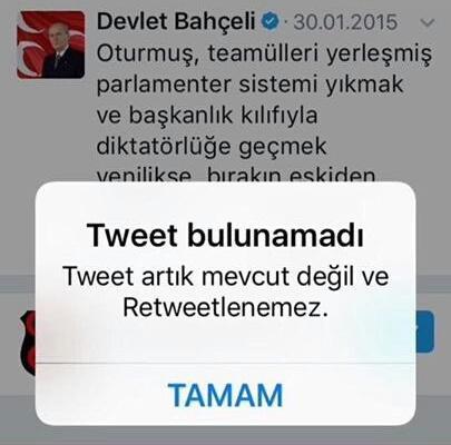 Ne oldu da bu twit silindi ?  #neolacakki  İtaatEtme HAYIRde https://t...