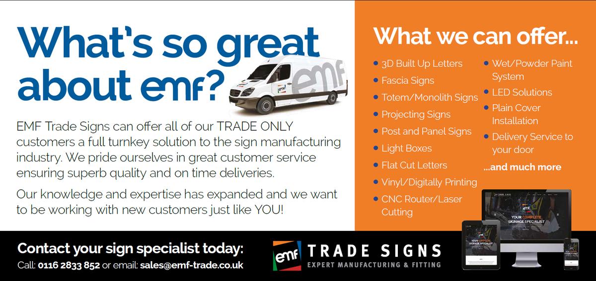EMF Trade Signs EMFTradeSigns Twitter - Superb vinyl signs