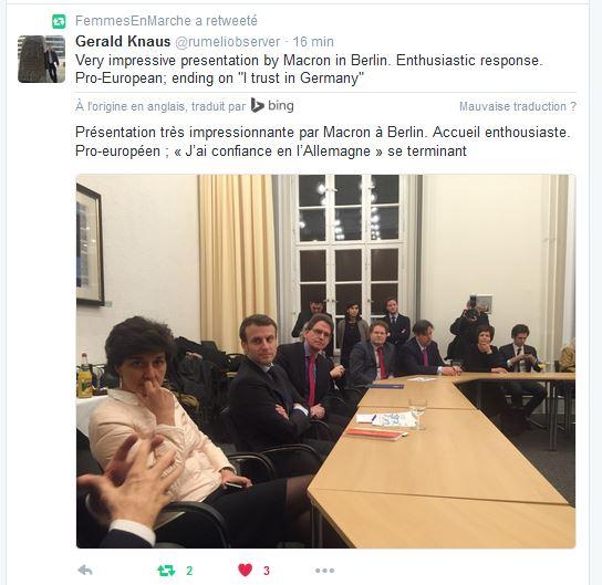 #MLP a dit quoi déjà au sujet du discours en Anglais  d&#39; @EmmanuelMacron  #EnMarche #TeamMacron #RevolutionEnMarche vers la #Presidentielle<br>http://pic.twitter.com/L9WRtxtEza