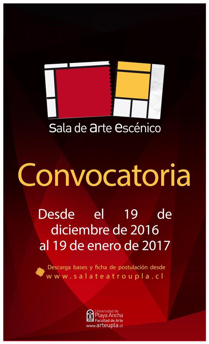 HASTA EL 19 DE ENERO SE PUEDE POSTULAR PARA SER PARTE DE LA PROGRAMACIÓN DE SALA UPLA 2017