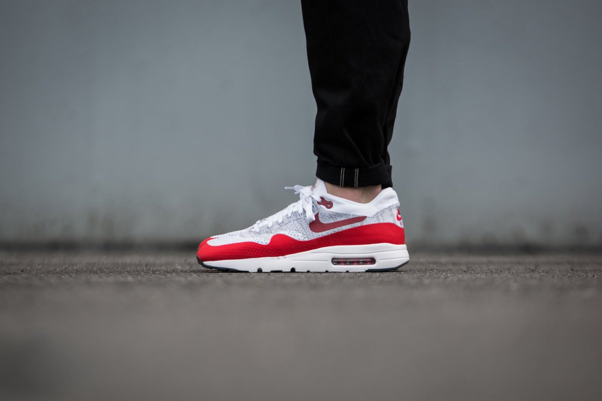 40b5d90c013 The  Nike Air Max 1 Ultra Flyknit White University Red Grey is only £65  down from £120  OffspringShoes https   t.co TcFUkZ5I8h…  https   t.co 4ETb99GcKw