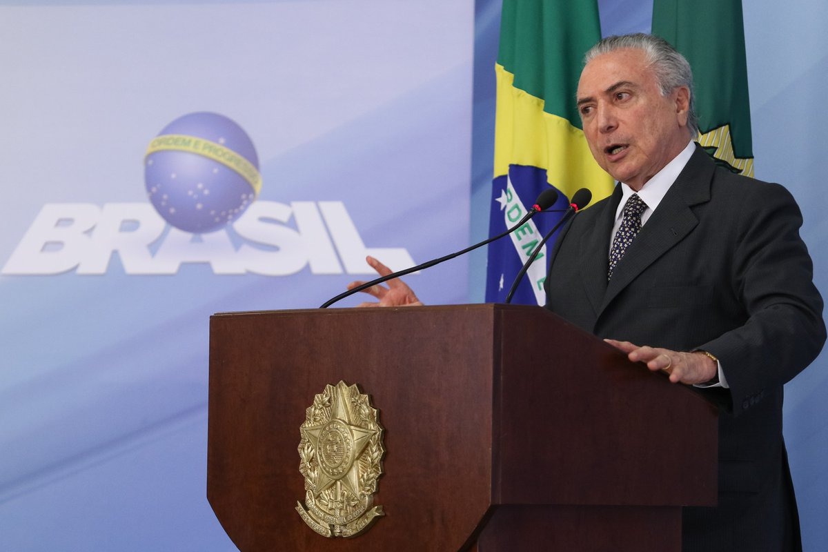 President said that the slowdown in inflation in 2016 will help recover production and foster new investments in Brazil