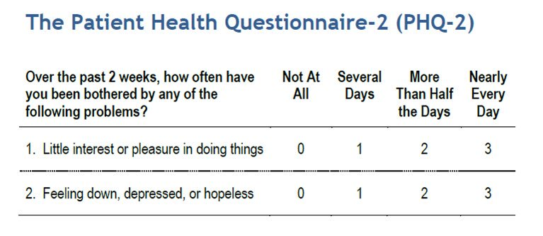 PHQ2 Is A Quick And Useful Two Question Screen For Depression Questions Scoring Cqaimhorg Pdf Tool Phq2pdf