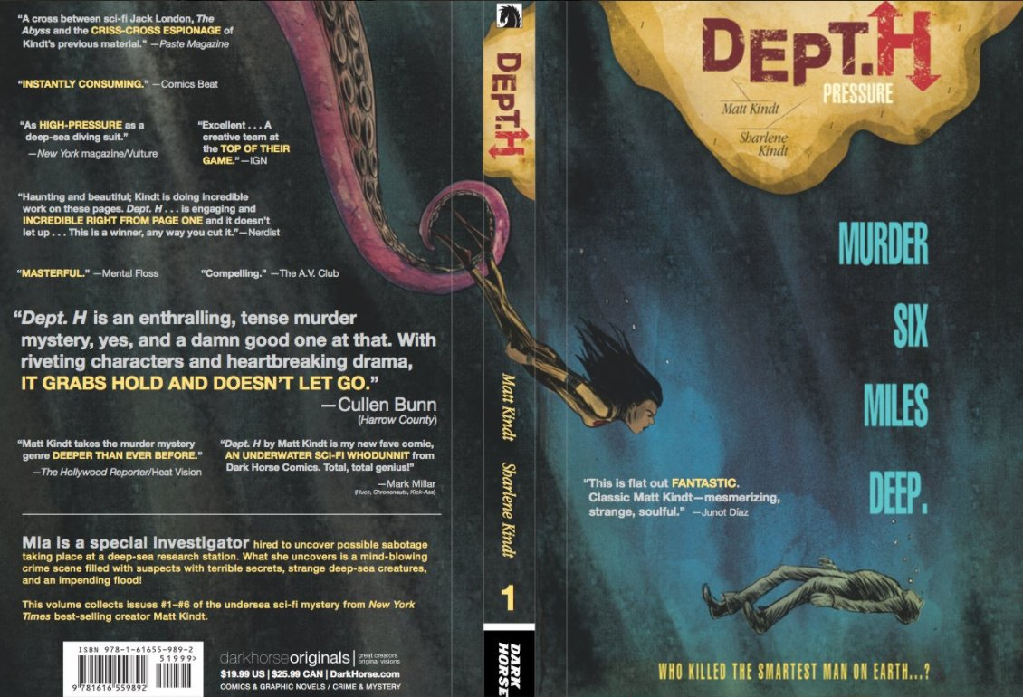 Dept. H volume 1 collection is out next week! https://t.co/qq2HPdiaPQ