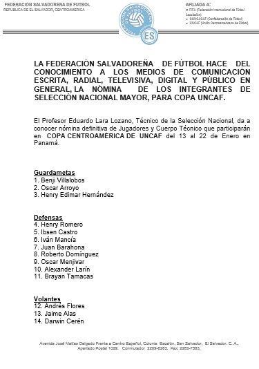 La Seleccion se prepara para Copa UNCAF 2017 en Panama. C11dprSXcAAKg21