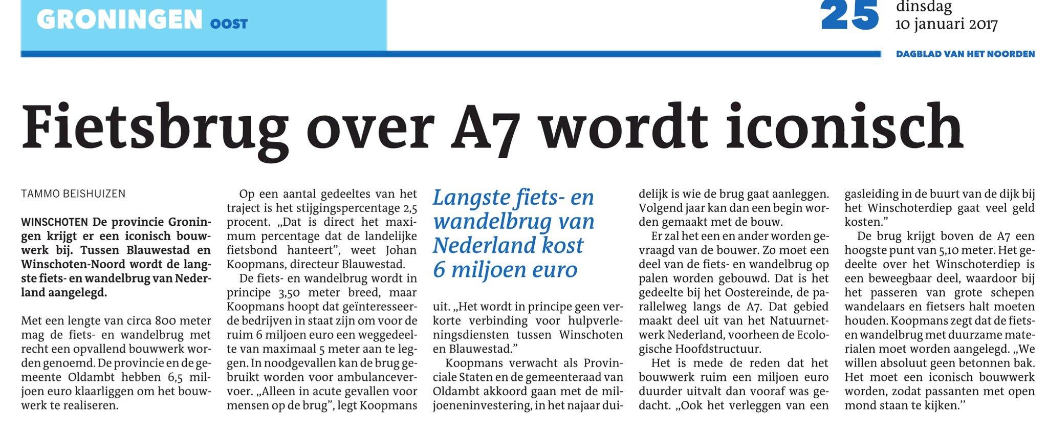 """Blauwe Loper"": le plus long pont cyclable du monde - de langste fietsbrug ter wereld C11vKalWEAE6n5K?format=jpg&name=large"