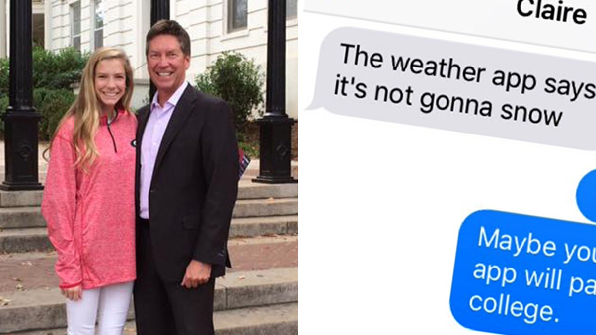 Weatherman hilariously zings daughter over text, becomes every parent's hero on.today.com/2ig96ZP