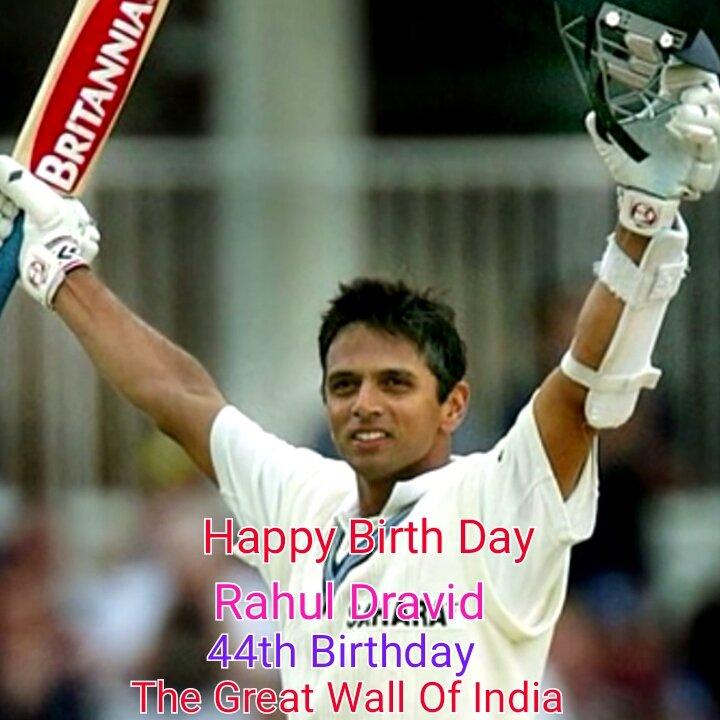 Happy Birth Day Rahul Dravid Sir , 44th Birthday