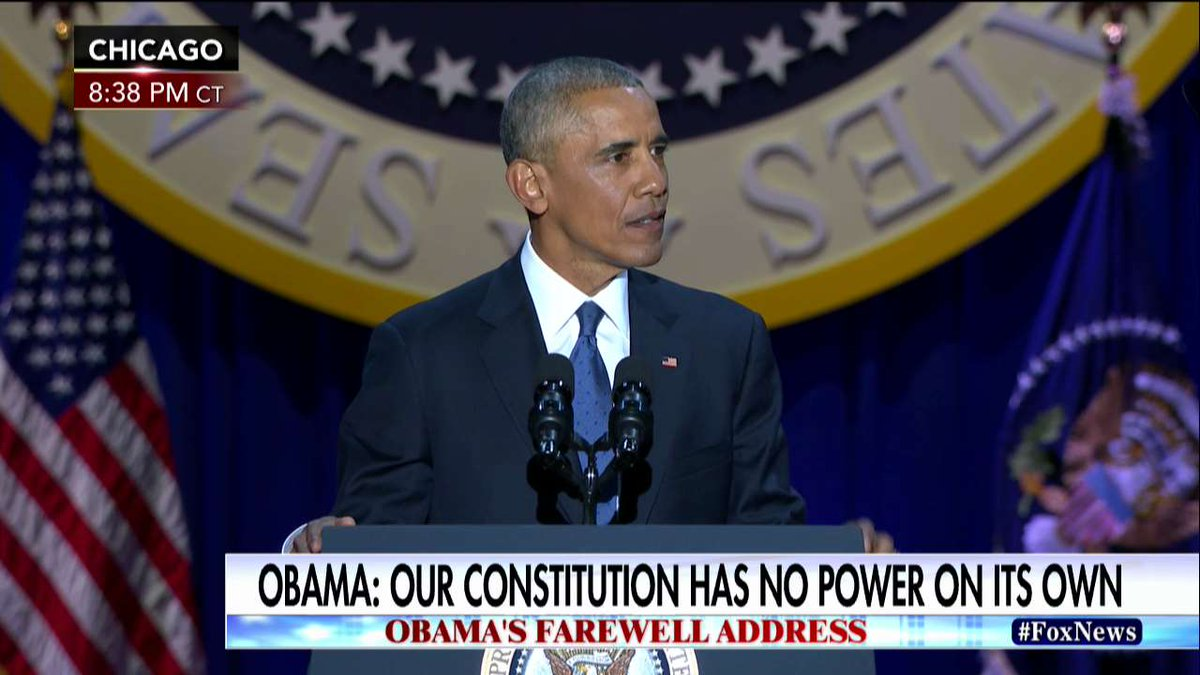 .@POTUS: Our Constitution is a remarkable, beautiful gift. But it's really just a piece of parchment...We, the people, give it power.