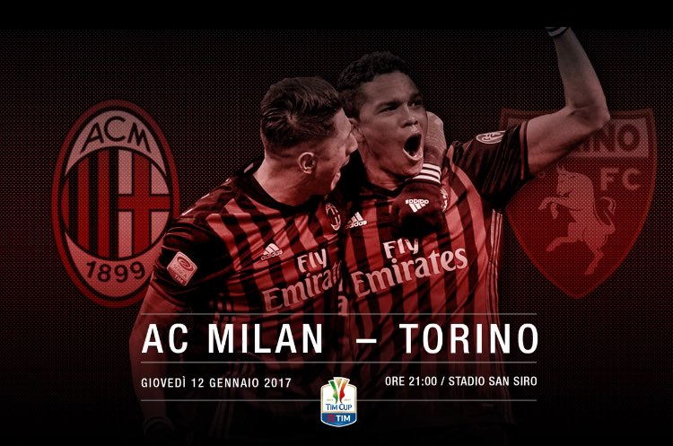 MILAN TORINO Coppa Italia Diretta Video Streaming Gratis Rai Play Oggi Rojadirecta