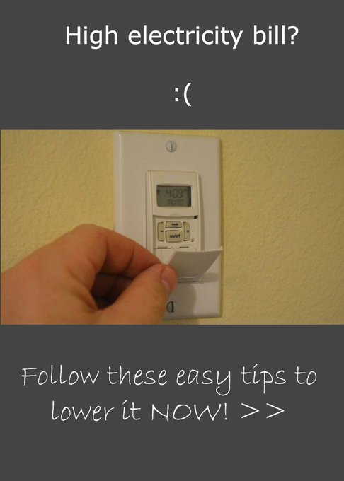 10 DIY Ways to Reduced Your Electric Bill