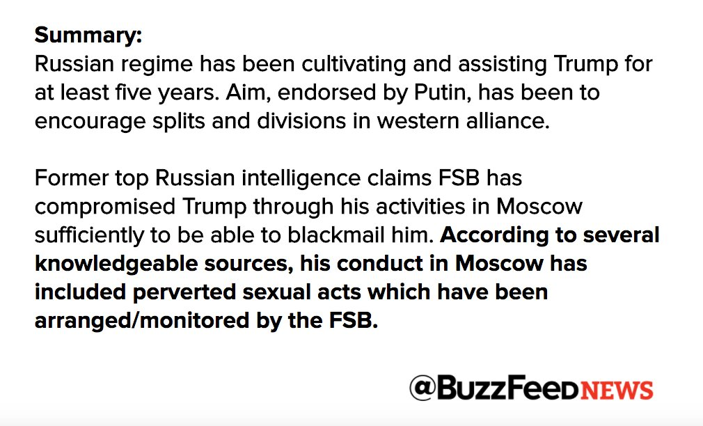 Report claims Russia has been assisting Trump for 5 years to encourage splits and divisions in western alliance