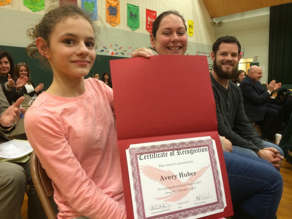 Artwork by Lower Pottsgrove 5th grader Avery Huber was chosen by the state for a statewide drug free calendar. https://t.co/cRy2WMjY2X