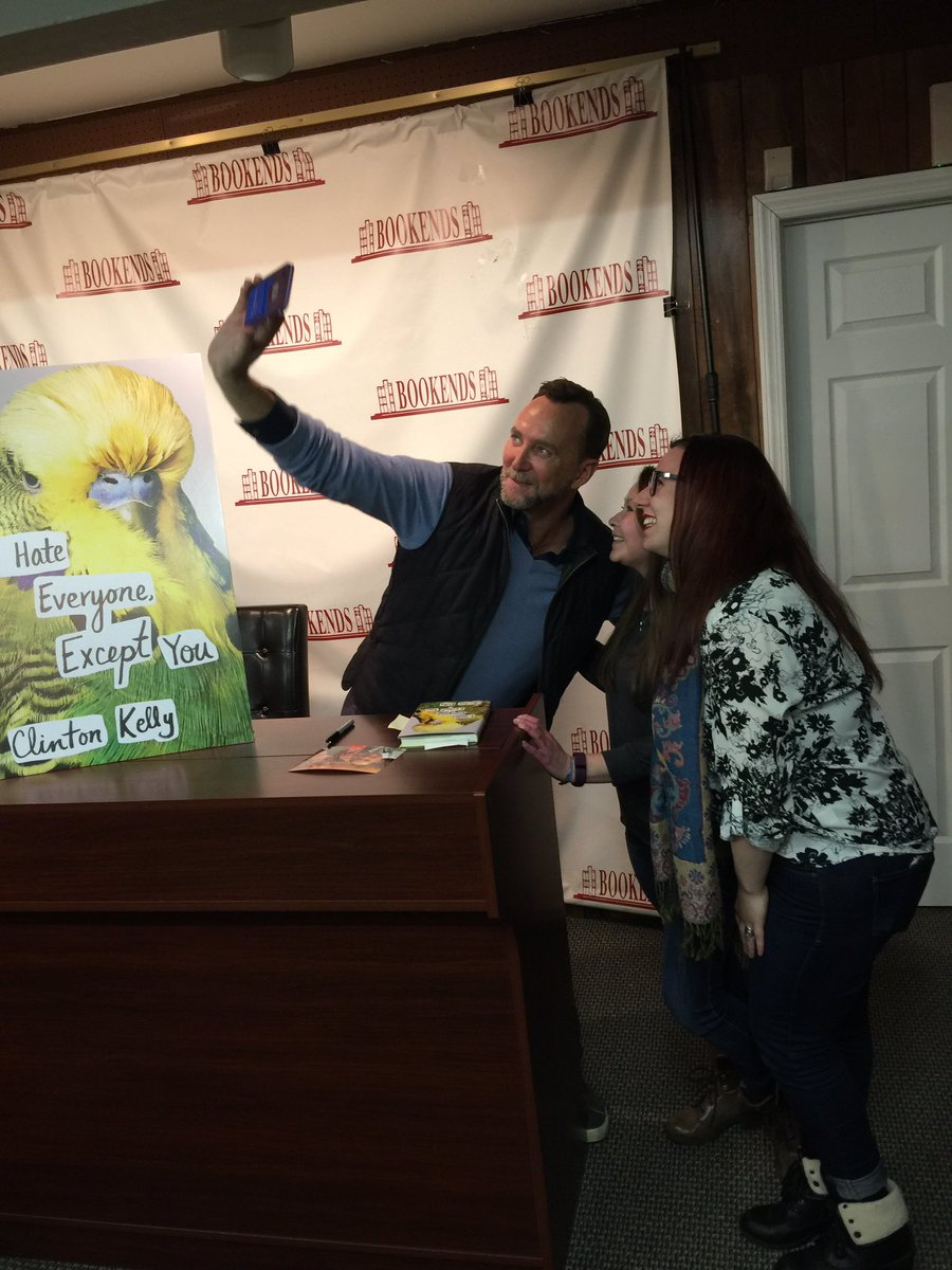 Selfies with @clinton_kelly @BookendsNJ Had a great time! Thanks so mu...