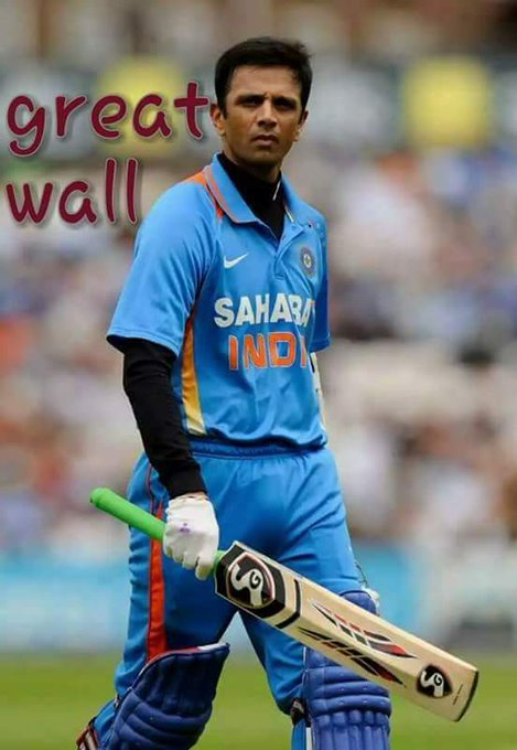 Happy Birthday to Rahul Dravid. The most gentlemanly batsman and my favorite.