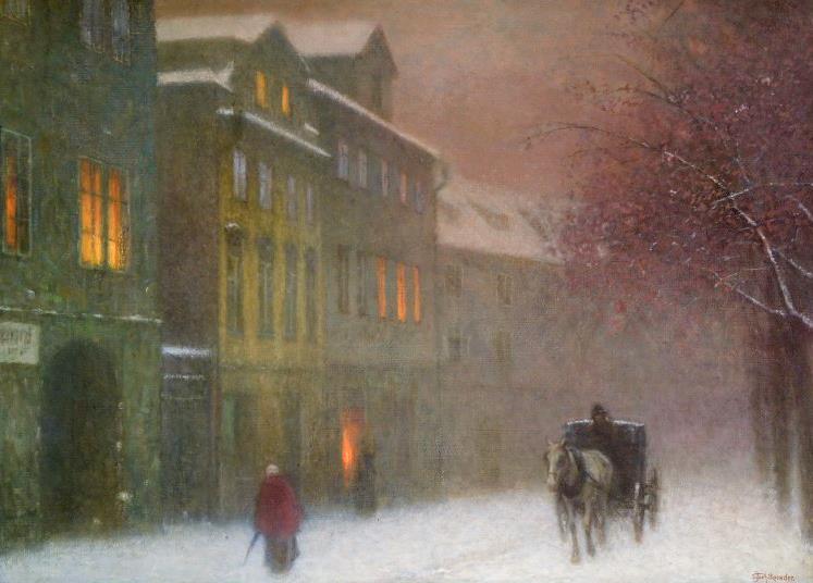 #DonneInArte per  #LeLuciDInverno  aperto tutto l'Inverno ...  Jakub Schikaneder #Art https://t.co/BxlwxDY3yl