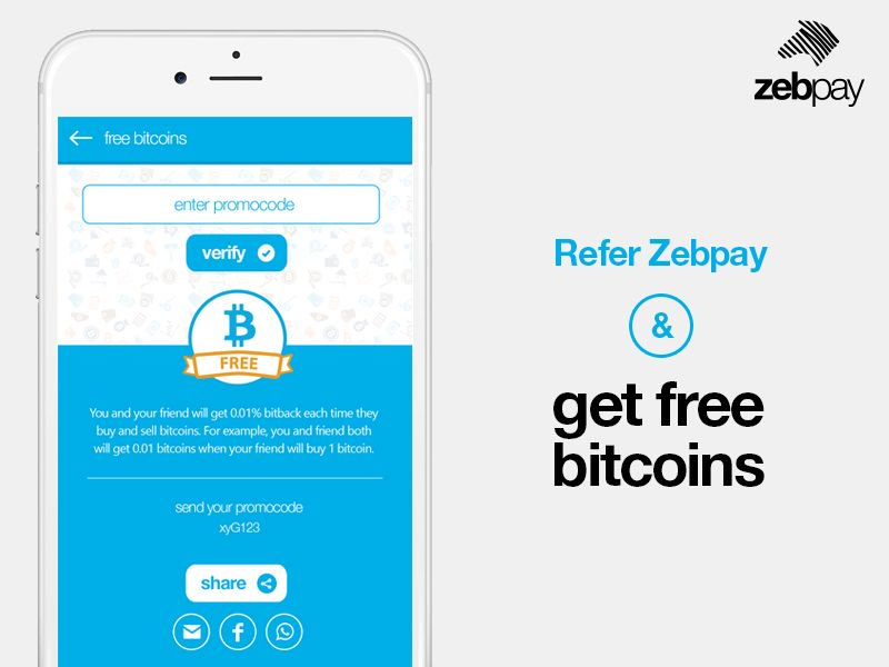 Zebpay On Twitter Refer Zebpay And Get Free Bitcoins Download -
