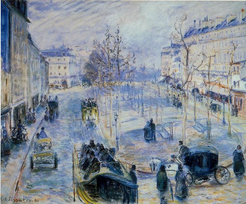 #DonneInArte per  #LeLuciDInverno  Buondì  @Amyperuana @LuciaTassan  Camille Pissarro 1880 Boulevard de Clichy, Winter, Sunlight Effect https://t.co/UE3TMdIsvn