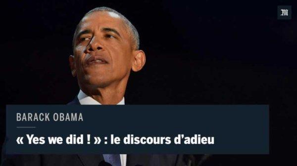 &quot;Yes we did !&quot; : les moments forts du discours d&#39;adieu de Barack Obama  https:// actudirect.com/?p=953194  &nbsp;   #BarackObama <br>http://pic.twitter.com/wZb0AM6YuS