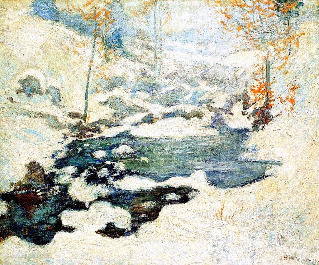 Icebound John Henry Twachtman, 1895 #art https://t.co/pSjGg78ifP https://t.co/UbC8zLD0ma
