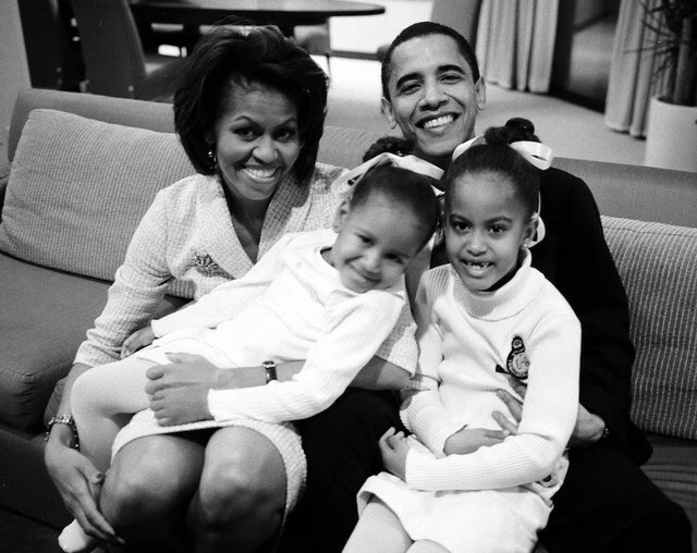 So proud of @POTUS and all that we've accomplished together. An incredible journey filled with remarkable people. I love you Barack. -mo