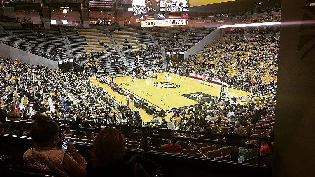 The crowd for Missouri/Auburn earlier this week (@EmptySeatsPics)