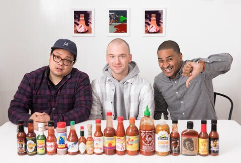 Riffed on a bunch of different hot sauces for @Thrillist https://t.co/...