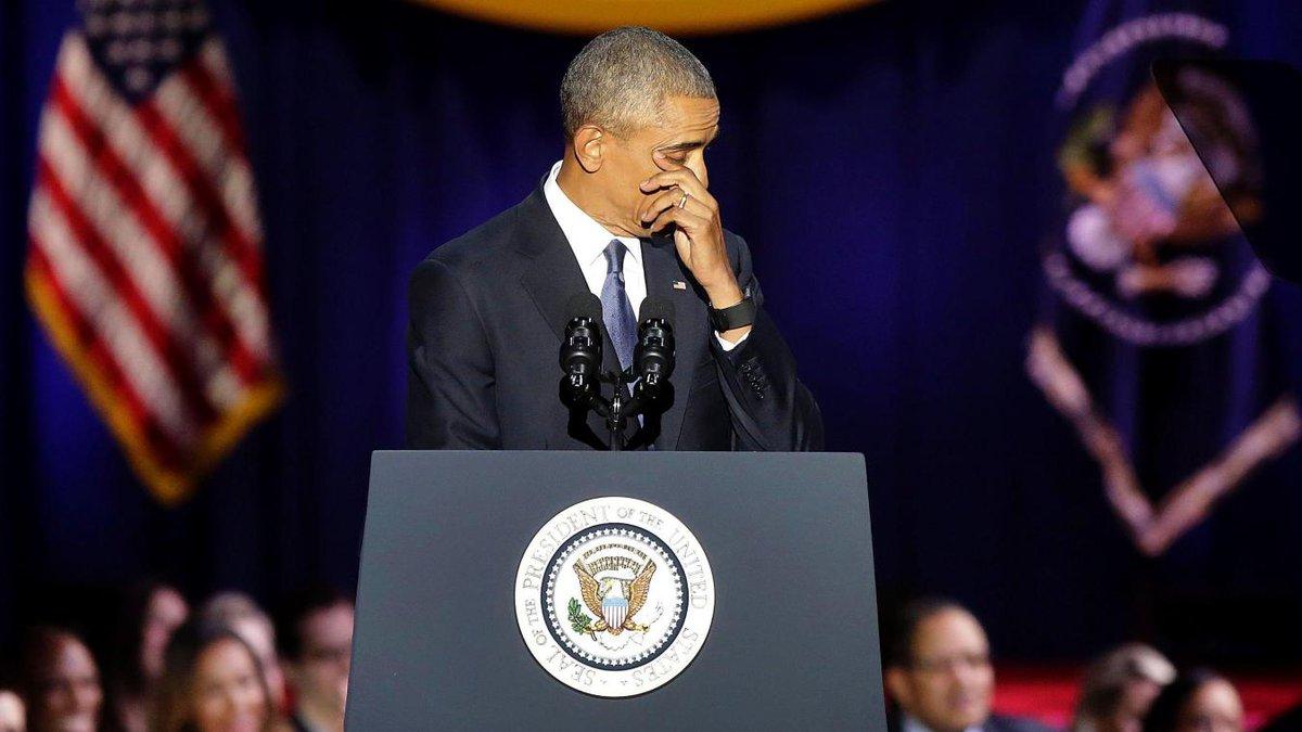 Les adieux émus de #BarackObama : «Yes we did» https://t.co/QPwzrOF7Qa