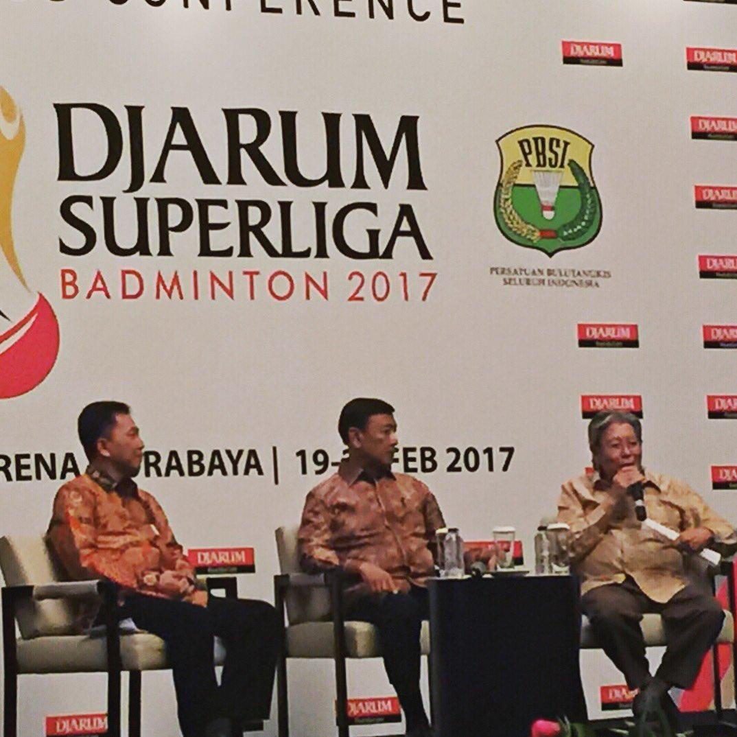 Hasil gambar untuk foto presscon Djarum Superliga 2017
