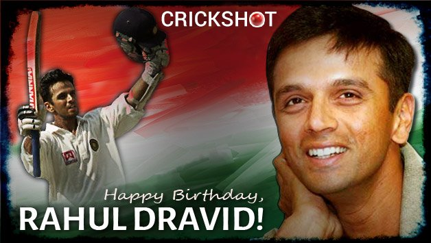 Wishing a very happy birthday to The Wall - Rahul Dravid !!!
