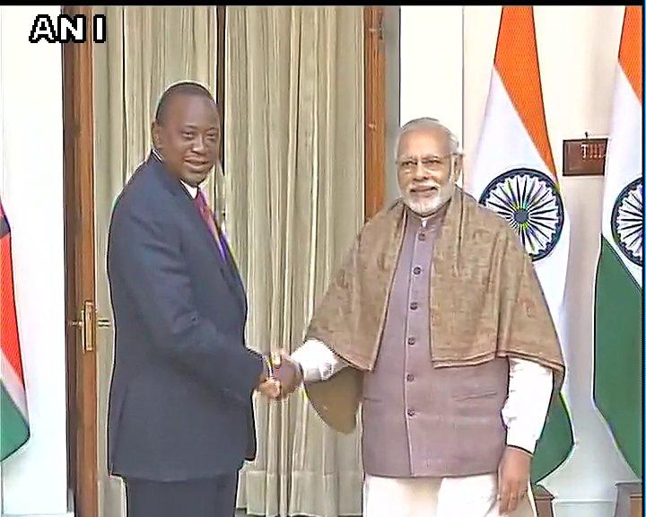 President of Kenya Uhuru Kenyatta meets PM Narendra Modi in Delhi