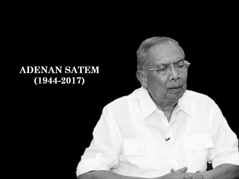 #Sarawak CM #AdenanSatem dies at 72   #Alfatihah