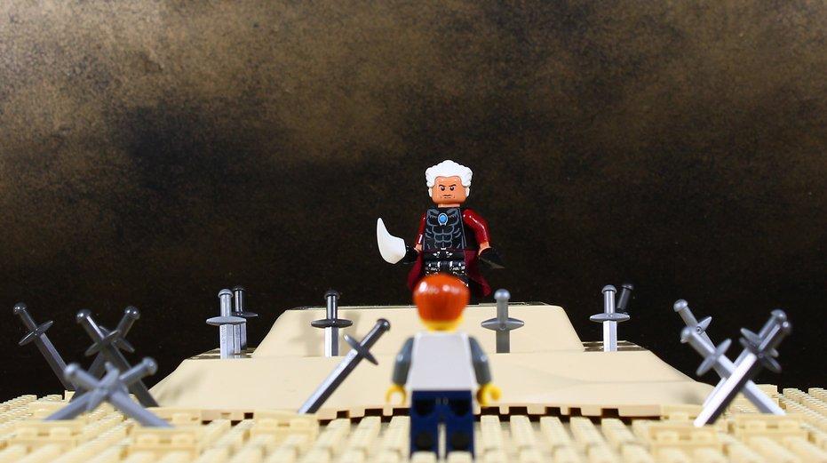 体はレゴで出来ている