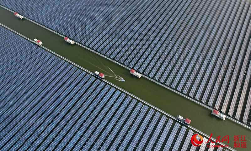 Massive photo voltaic power station put into operation in Zhejiang