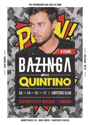 ZURICH!!! This Saturday, January 14th, I'm playing Härterei Club, get...
