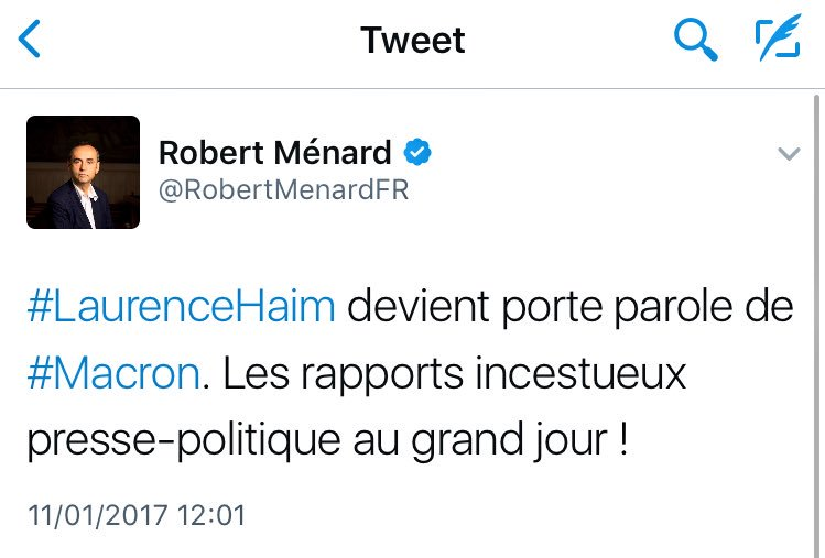 Et l'ancien journaliste de Radio France & patron de 'Reporters sans frontières' devenu maire avec le soutien du FN sait de quoi il parle 😂