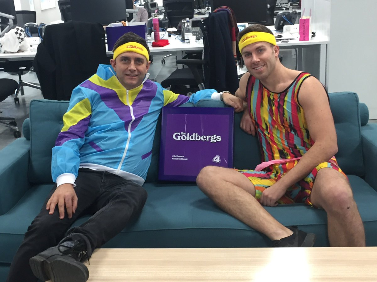 Here Are Two Of Our Finest Sporting Their 80s Gym Wear For The Relaunch Goldbergs On E4 TheGoldbergs Tco ZqpYRvuw9L