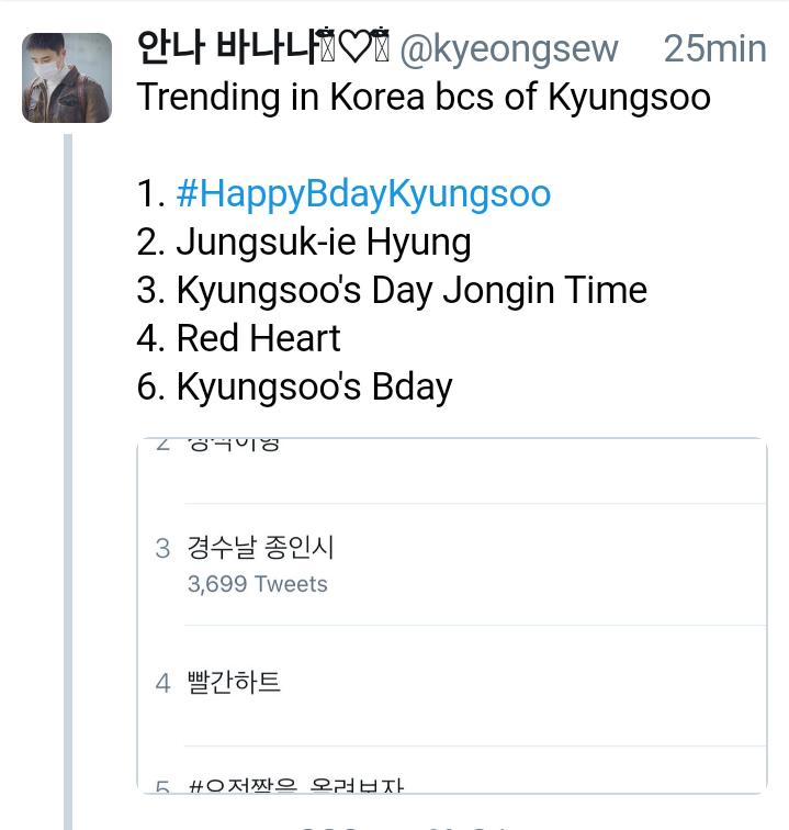Look at my King of trending  #경수야생일축하해 #HappyKyungsooDay #HappyDoDay<br>http://pic.twitter.com/QhgWkDRP7E