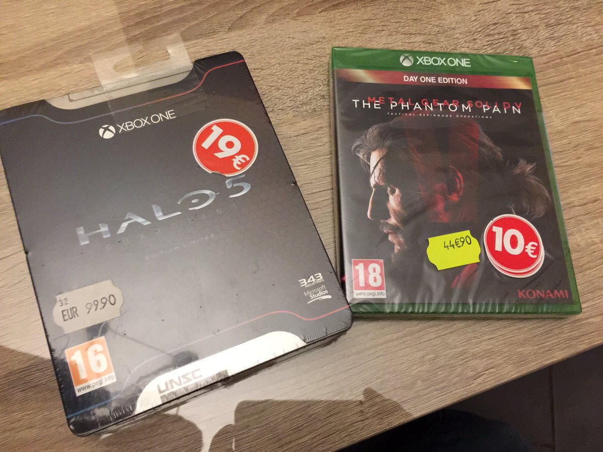 Soldes #XboxOne @hamsterjoueur #carrefour Liévin #Halo5 #MGSVTPP<br>http://pic.twitter.com/XqZIo7Hqxy