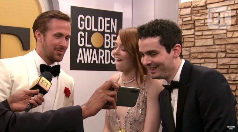 #EmmaStone reaccionó al beso entre #AndrewGarfield y #RyanReynolds......