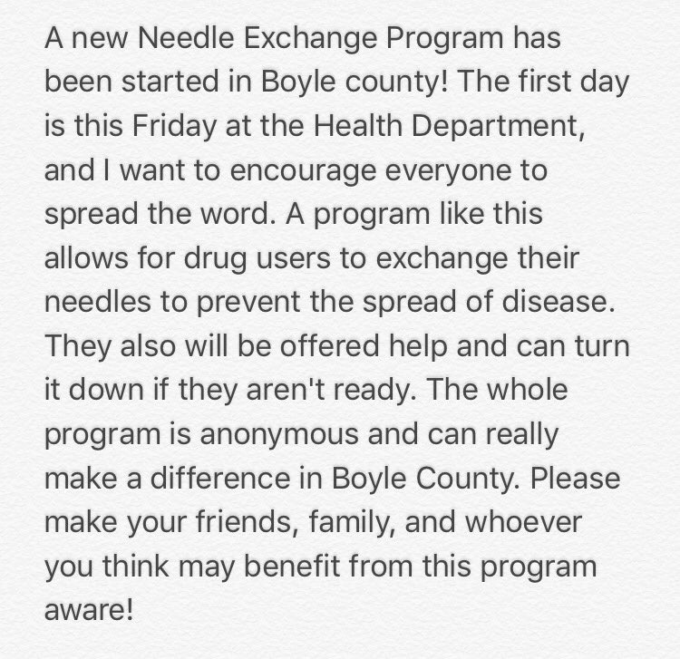 needle exchange program essay The needle exchange program is a social service program which is aimed at allowing the drug syringe users to have free or cheap access to hypodermic needles.
