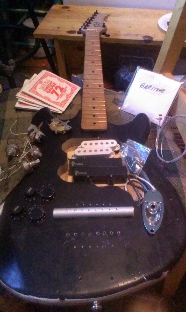 Going to string it up today I think, deconstruct the pots and resolder them proper. #Stringamajig #luthier #invention #innovation #guitar<br>http://pic.twitter.com/LCFnxpmHIA