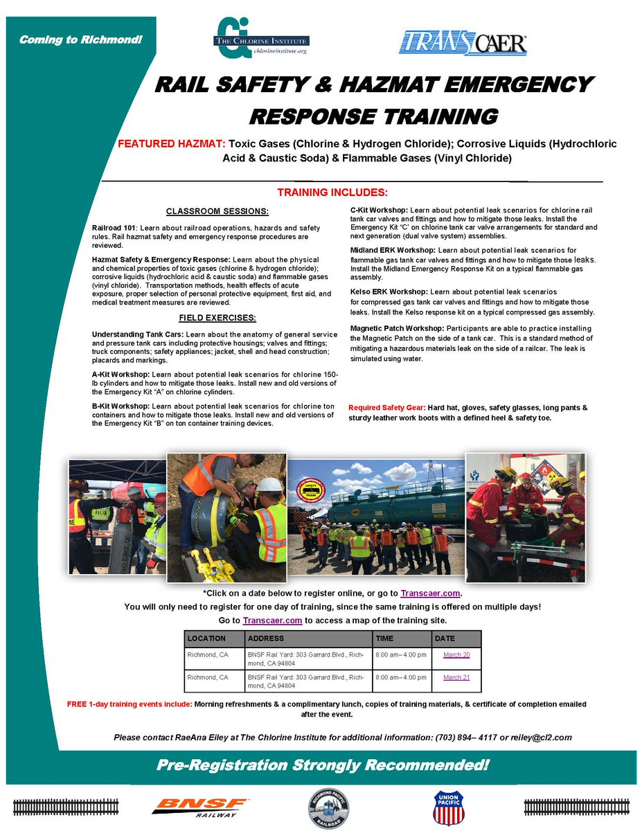 Transcaer On Twitter Transcaer Rail Safety Hazmat Training 8