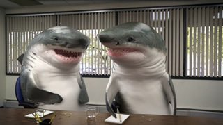 Sharks #ShouldBeAllowedAtWork! It would be much more entertaining with...