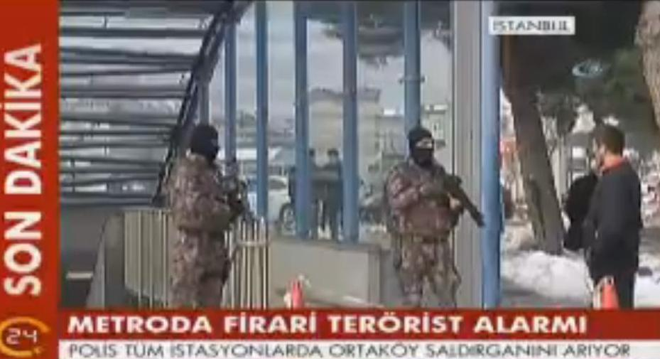 Kirazli Metro station in Istanbul is closed for Reina gunman report.